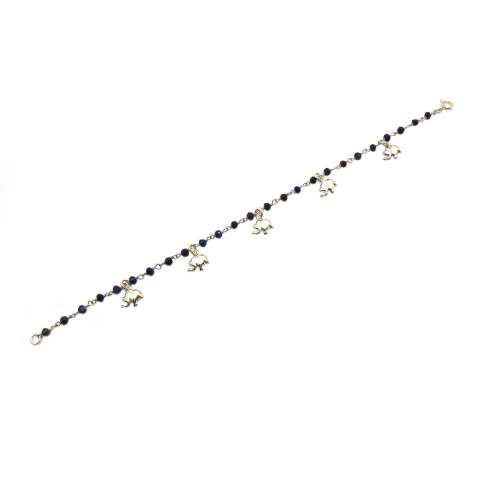 Bracciale rosario argento 925 Lapislazzuli Elefanti