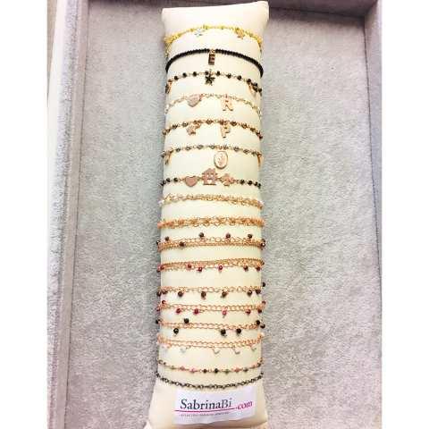 Bracciale rosario argento 925 oro giallo Tutto Stelle
