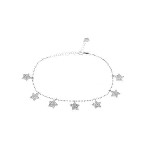 Bracciale Star argento 925 ciondoli Stelle Zirconi