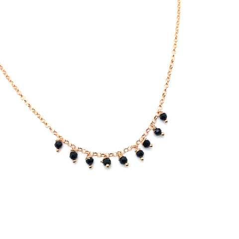 Collana argento 925 oro rosa Clara