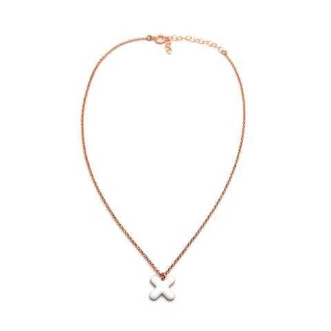 Collana choker argento 925 oro rosa Cerotto