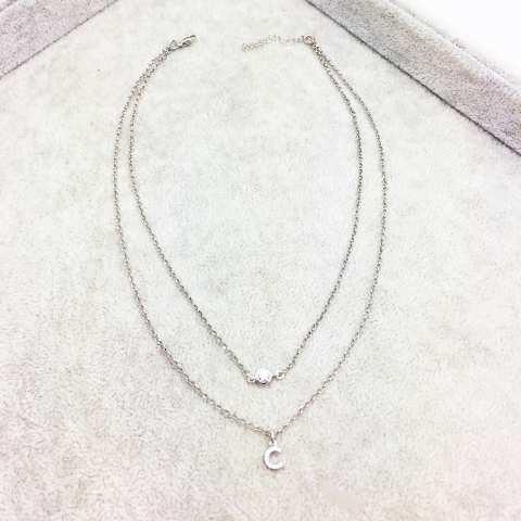 Collana doppia argento 925 Paola