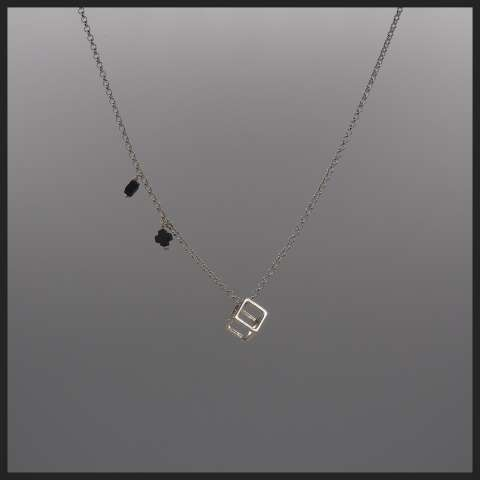 Collana girocollo argento 925 Cubo e Croci