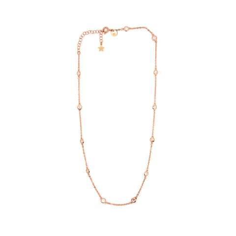 Collana girocollo argento 925 oro rosa con Zirconi