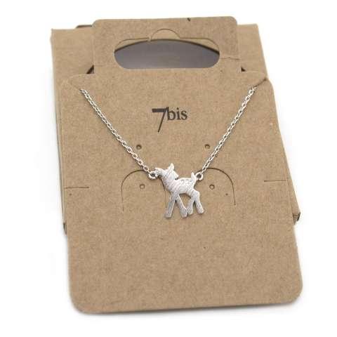 Collana girocollo argento pendente cerbiatto Bambi