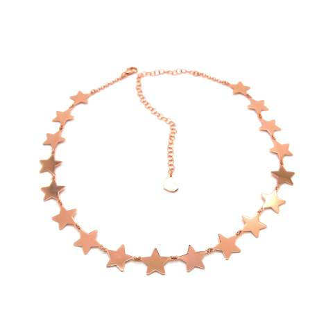 Collana girocollo choker strozzacollo argento 925 oro rosa Tutte Stelle
