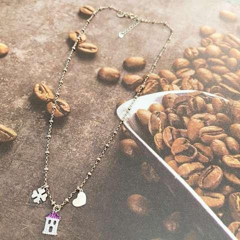 Collana girocollo rosario argento 925 Deva