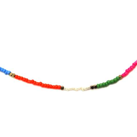 Collana micro perline vetro multicolor
