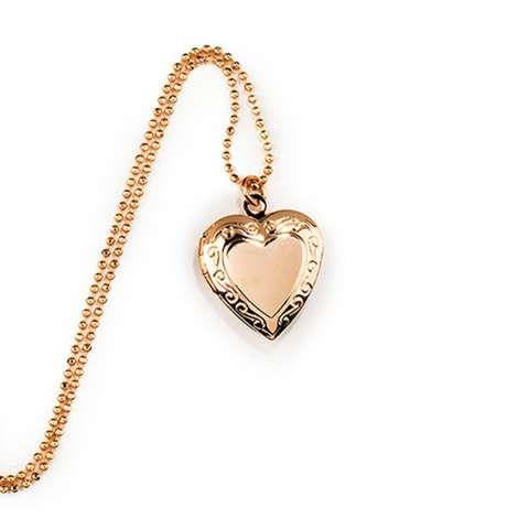Collana multifilo oro rosa portafoto cuore e rosario nero