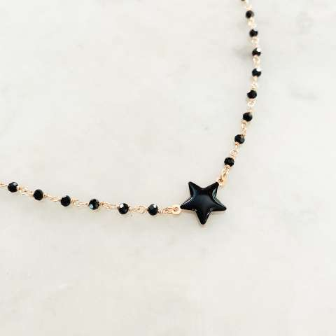 Collana rosario argento 925 oro rosa Sirio