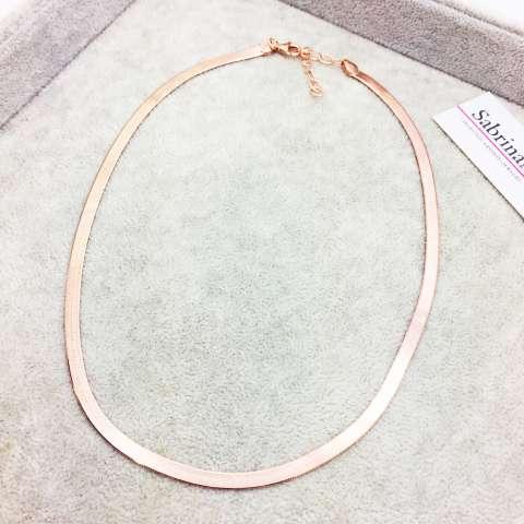 Collana Snake argento 925 oro rosa