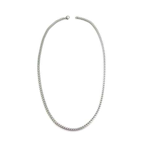 Stainless steel square chain man necklace
