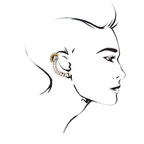 Ear cuffs cristalli Swarovski trasparenti