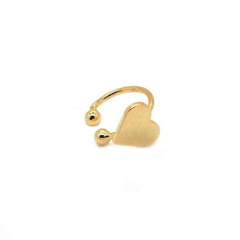 Mono-orecchino ear cuff oro cuore