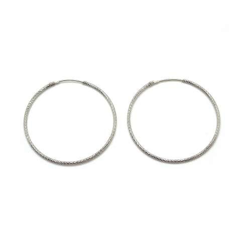 Orecchini cerchio medio argento 925